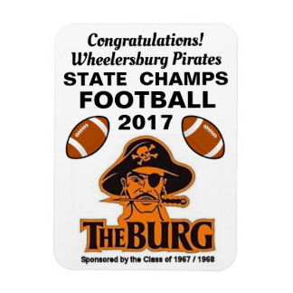 Ímã Parabéns Wheelersburg, futebol dos piratas -