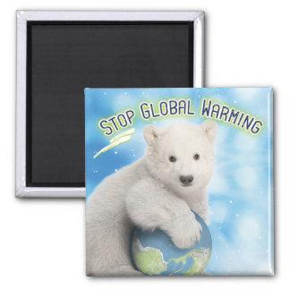 Imã Pare o ímã do urso polar de aquecimento global