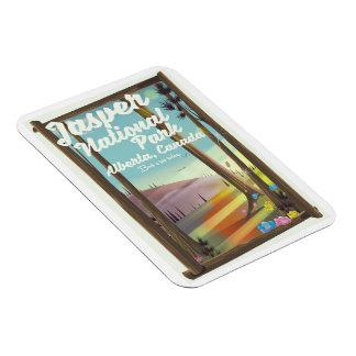 Ímã Parque nacional de jaspe, poster de viagens de