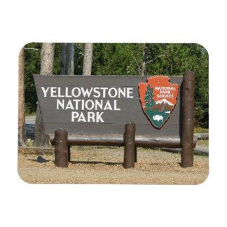 Ímã Parque nacional de Yellowstone, sinal, Wyoming,