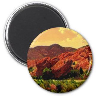 Imã Parque vermelho Denver Colorado das rochas