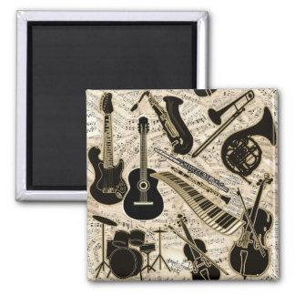 Imã Partitura e preto dos instrumentos/ouro ID481