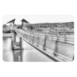 Ímã Passadiço sobre o rio norte de Saskatchewan