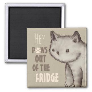 Imã Patas bonitos do gato fora do refrigerador