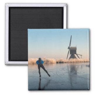 Imã Patinagem no gelo após o moinho de vento e o ímã