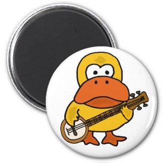 Imã Pato engraçado parvo que joga desenhos animados do