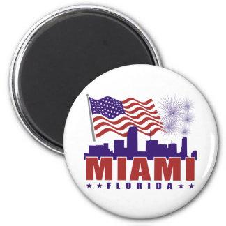 Ímã patriótico de Miami Florida Ímã Redondo 5.08cm