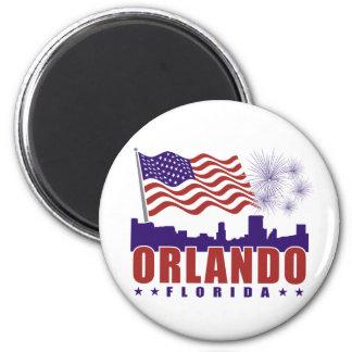 Ímã patriótico de Orlando Florida Ímã Redondo 5.08cm