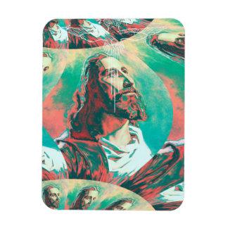 Ímã Paz Posterized da pomba do Fractal do Jesus Cristo