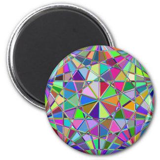 Imã Pedra de gema tirada Kaleidescope colorida
