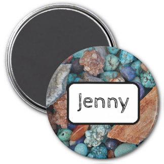 Imã Pedras e turquesa conhecidas personalizadas do ímã
