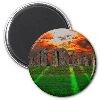 Imã Pedras eretas de Stonehenge no por do sol