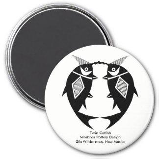 Imã Peixe-gato gêmeo, design da cerâmica de Mimbres