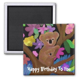 Ímã peluches do feliz aniversario dos Koalas Ima