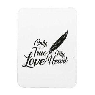 Ímã Pena verdadeira do amor da ilustração