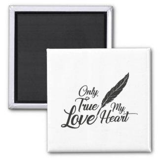 Imã Pena verdadeira do amor da ilustração