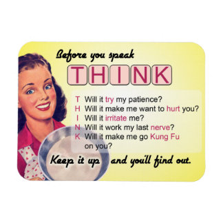 Ímã Pense antes que você fale (G) avaliado