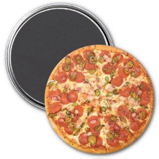 Imã Pepperoni e ímã verde-oliva do refrigerador da
