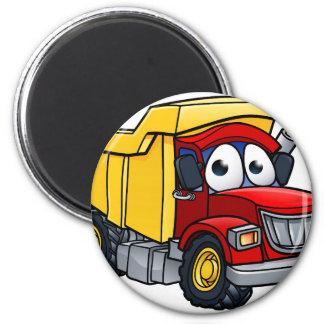 Imã Personagem de desenho animado do camião basculante