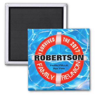 Ímã personalizado da reunião de família ímã quadrado