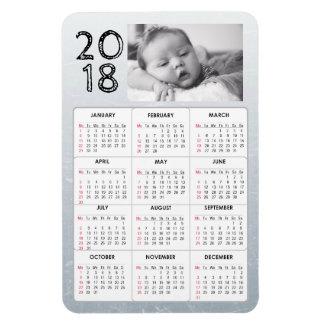 Ímã personalizado do calendário da foto 2018 do