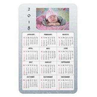 Ímã personalizado do calendário da foto de família