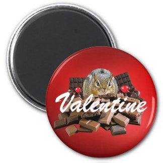 Imã Personalize o Chipmunk do chocolate do dia dos