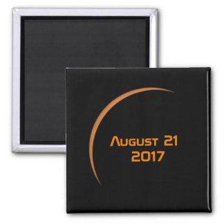 Imã Perto do eclipse solar parcial do 21 de agosto de