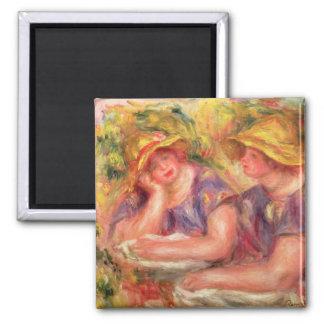 Imã Pierre um Renoir | duas mulheres em blusas azuis