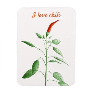 Ímã Pimentão botânico do amor da planta feita sob