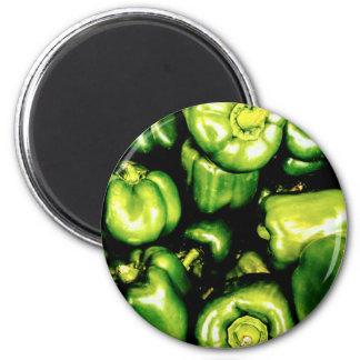 Imã Pimentas de Bell verdes