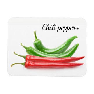 Ímã Pimentas de pimentão vermelhas e verdes