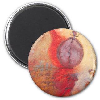 Imã Pintura a óleo do abstrato da dança do fogo