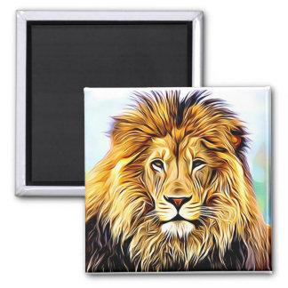 Imã Pintura de Digitas da cara do leão