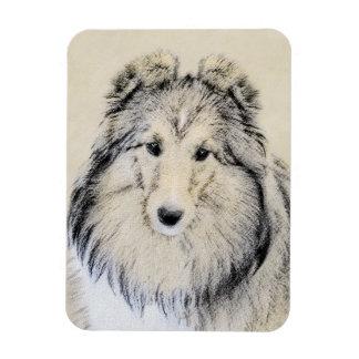 Ímã Pintura do Sheepdog de Shetland - arte original