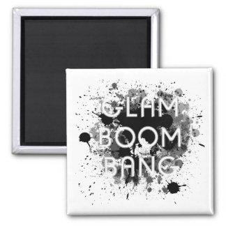 Imã Pintura escura Splat do golpe Glam do crescimento