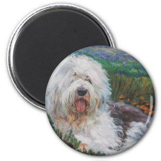 Imã Pintura inglesa velha bonita da arte do cão do