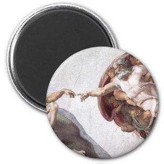 Imã Pintura original de Michelangelo na capela Roma do