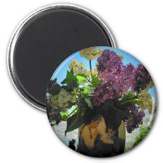 Imã Piquenique dos Lilacs e das irmãs do vaso