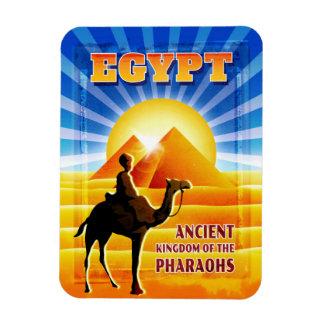 Ímã Pirâmides e ilustração egípcias do viagem do