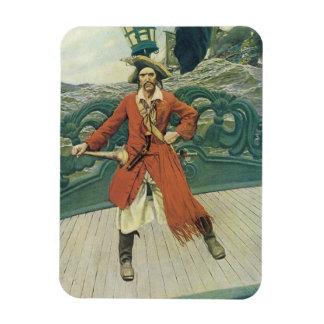 Ímã Piratas do vintage, capitão Keitt por Howard Pyle