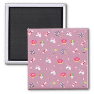 Imã pirulitos cor-de-rosa bonitos das flores dos doces