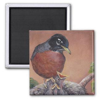 Imã Pisco de peito vermelho no ímã da arte do pássaro