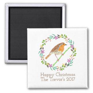 Imã Pisco de peito vermelho o pássaro do Natal