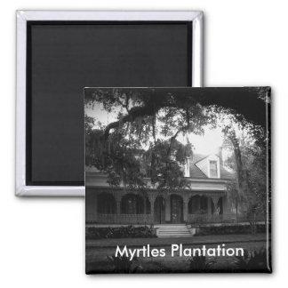 Imã Plantação dos Myrtles em preto e branco