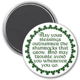 Imã Podem suas bênçãos ultrapassar os trevos, irlandês
