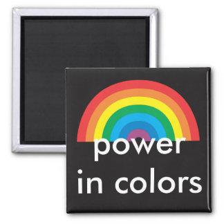 Imã poder nas cores