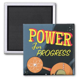 Imã Poder para o poster atômico do vintage do