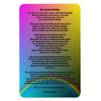 Ímã Poema do animal de estimação da ponte do arco-íris