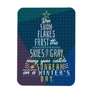 Ímã Poema dos flocos de neve da árvore de Natal dos